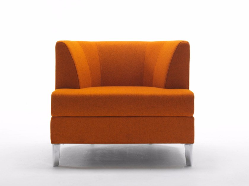 Upholstered fabric armchair COSY | Armchair by Segis