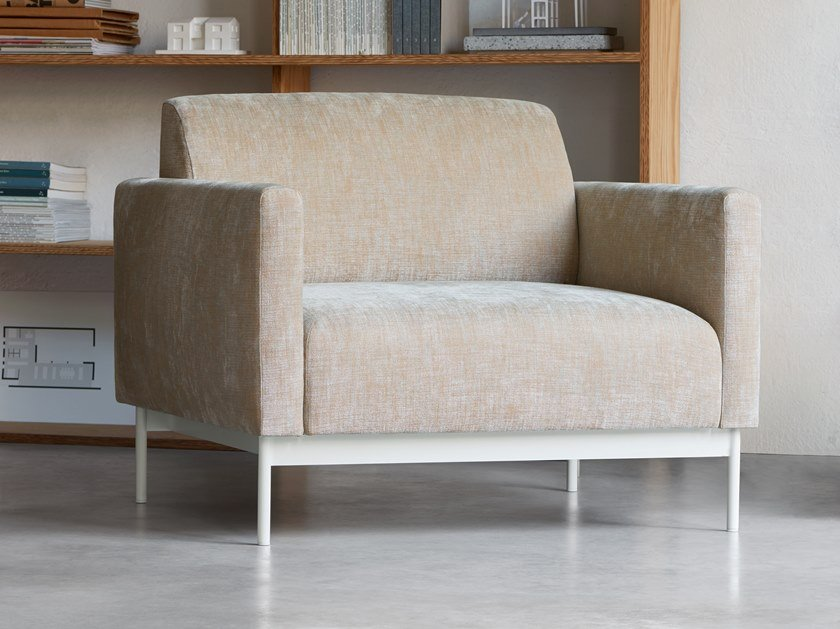 Fabric lobby chair with armrests HOTEL | Armchair by Segis