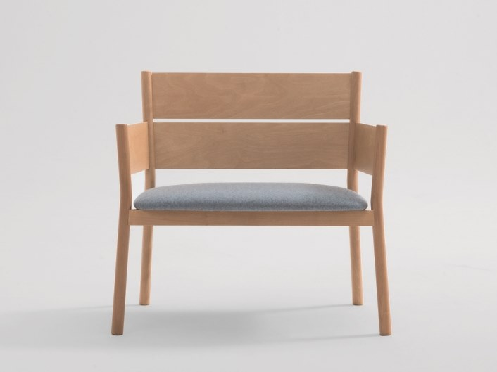 Wooden armchair with armrests ELLA | Armchair by SF Collection