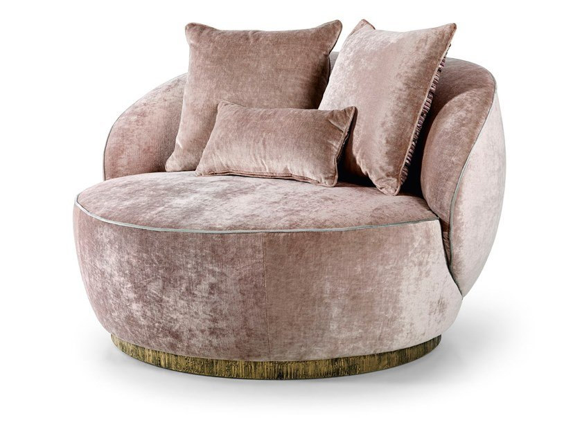 Upholstered fabric armchair PRESTIGE   Armchair by Sicis