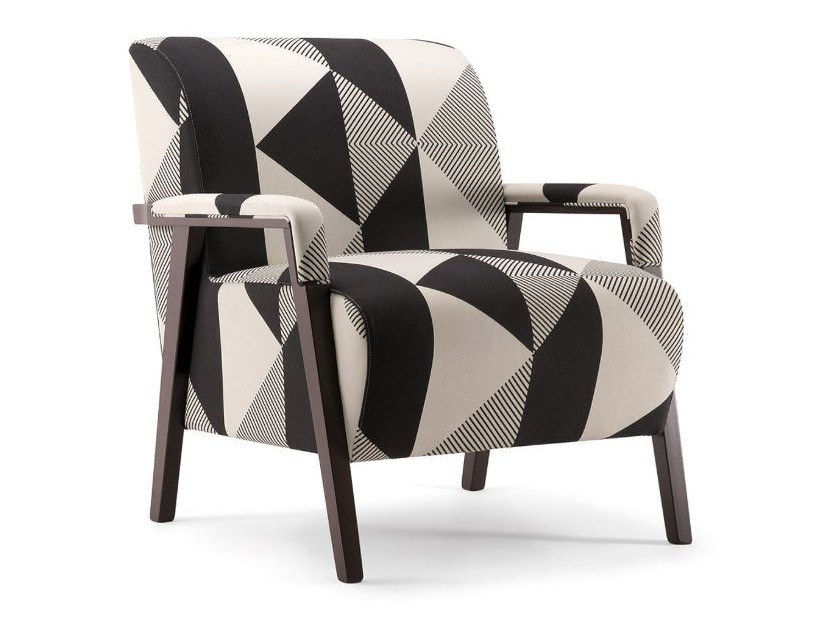 Fabric armchair with armrests CARTER | Armchair by Tirolo