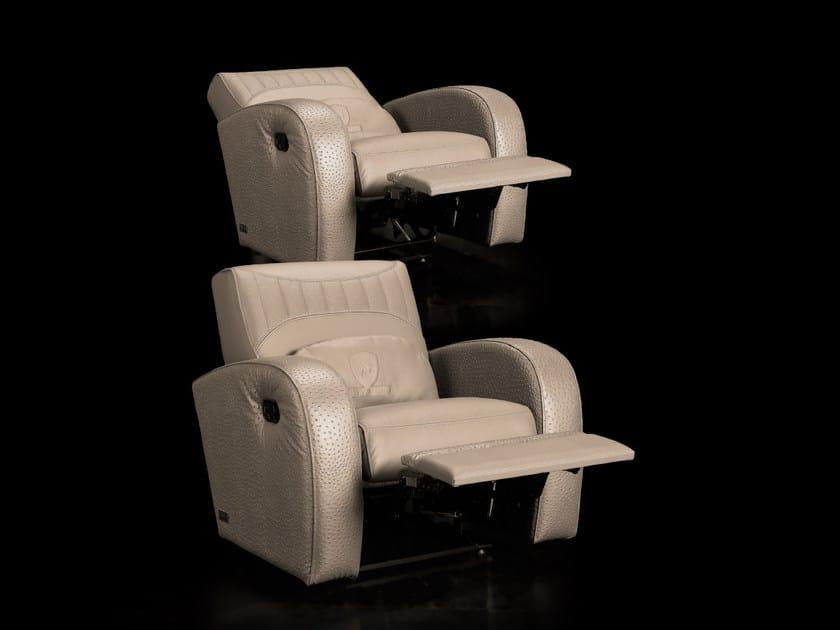 Leather auditorium seats with adjustable backrest JARAMA | Armchair by Tonino Lamborghini Casa