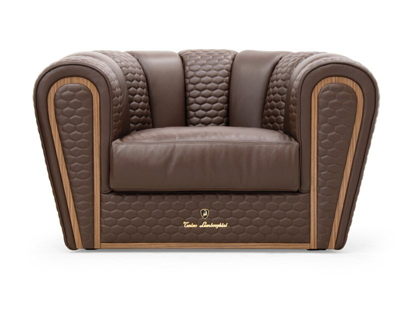 Leather armchair RITA CURVE | Armchair by Tonino Lamborghini Casa