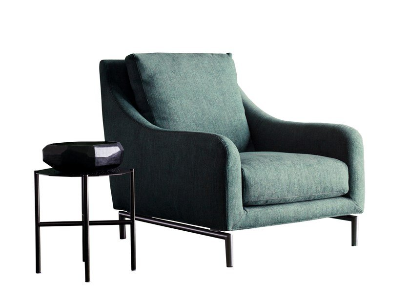 Bergere armchair with removable cover REVIVAL | Armchair by Twils
