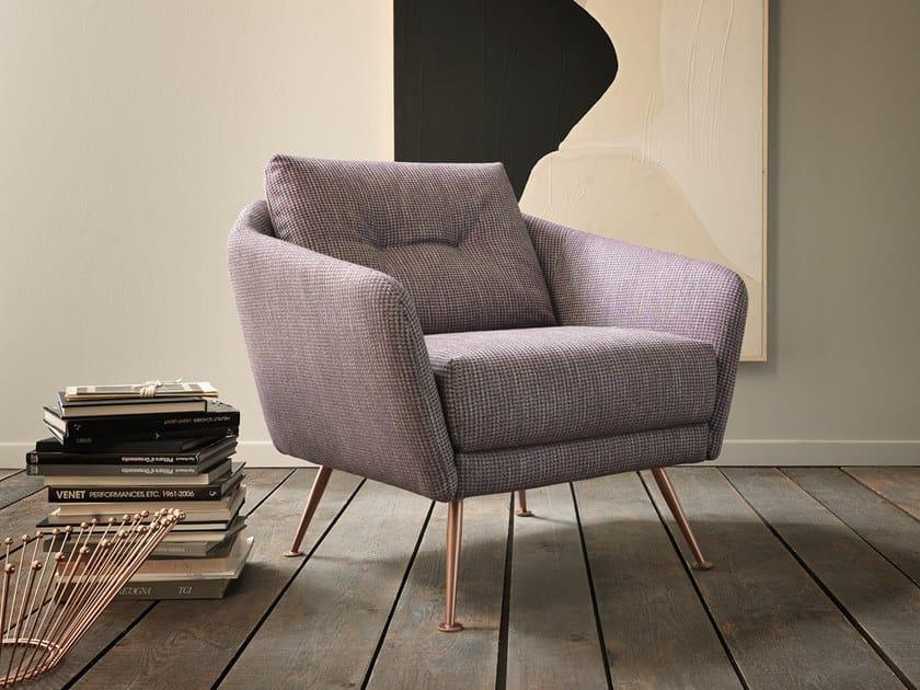Fabric armchair with armrests DUKE | Armchair by VALENTINI