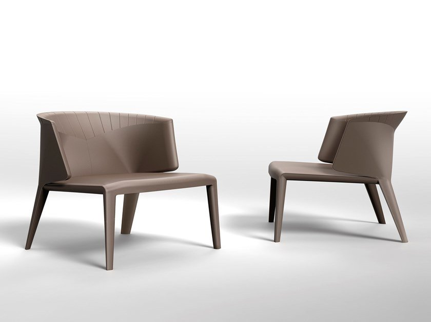 Upholstered tanned leather armchair ANASTASIA | Armchair by Visionnaire