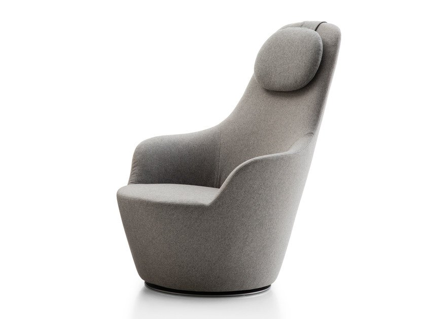 High-back fabric armchair with headrest HARBOR | Armchair with headrest by B&B Italia
