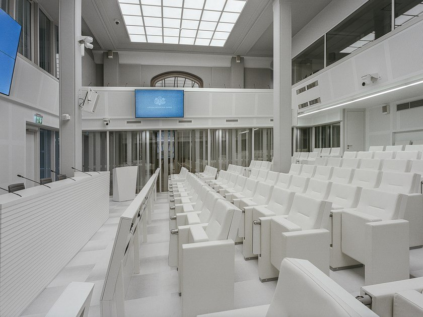 Auditorium seats with writing tablet ARMCHAIRS | Auditorium seats by RIGA CHAIR