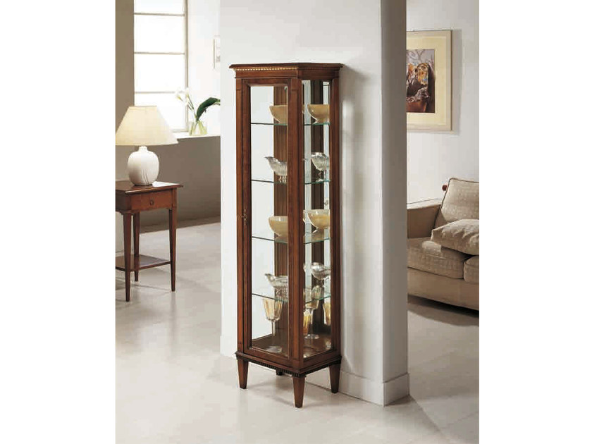 Solid wood display cabinet ARMONIA by Arvestyle