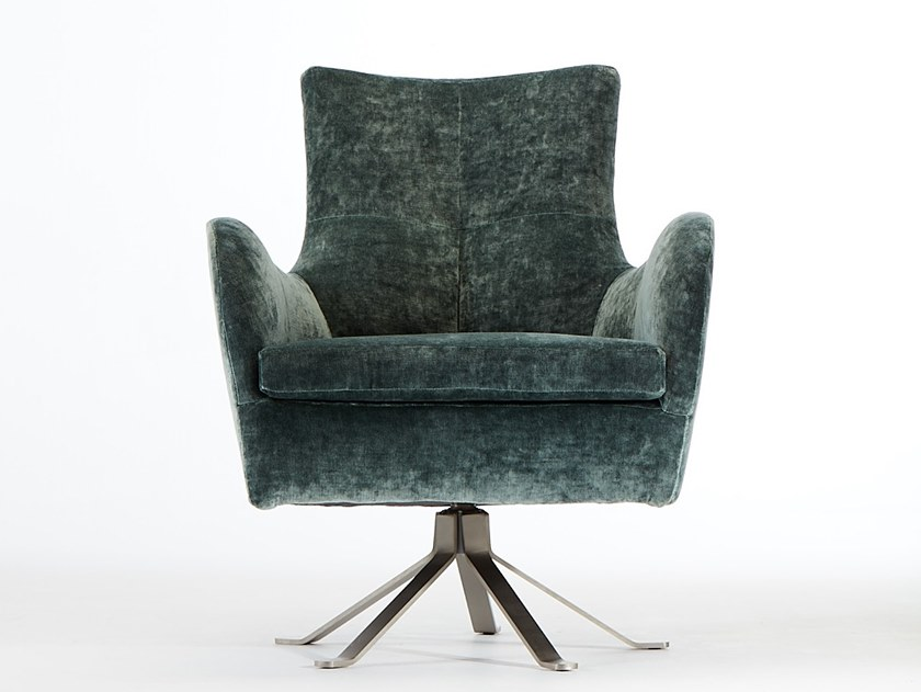 Fabric armchair with 5-spoke base with armrests ARMONIA RM | Armchair with 5-spoke base by VERFO LAB