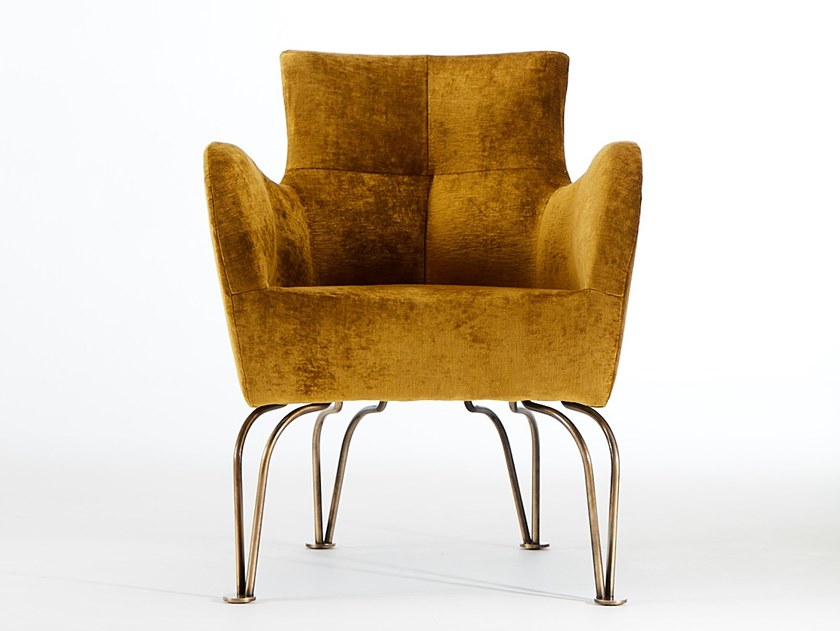 Fabric armchair with armrests ARMONIA RS | Armchair by VERFO LAB