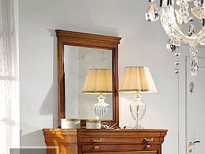 Wall-mounted framed mirror ARMONIE | Rectangular mirror by Arvestyle