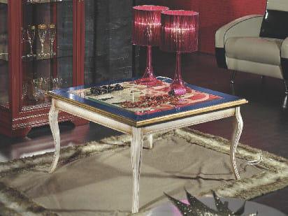 Tavolino basso in legno ARMONIE | Tavolino quadrato by Arvestyle