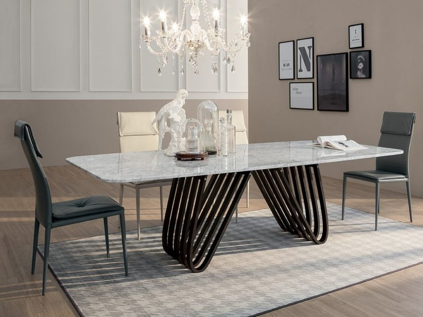 Rectangular marble living room table ARPA | Marble table by Tonin Casa