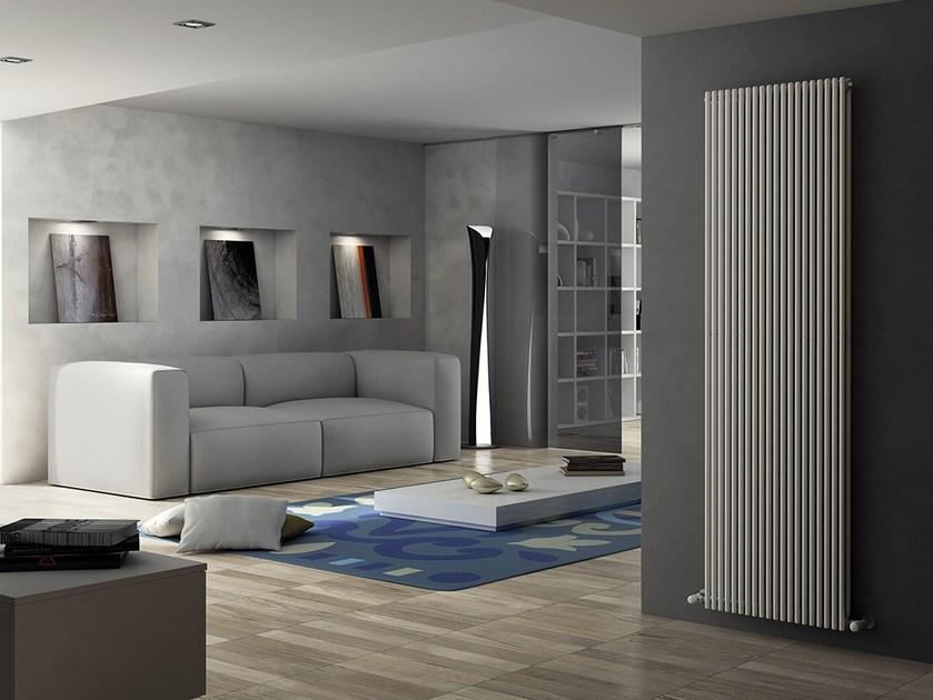 Vertical wall-mounted steel decorative radiator ARPA18_2 | Vertical decorative radiator by IRSAP