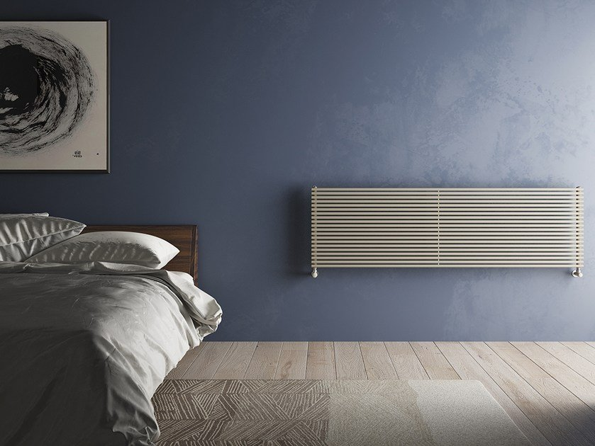 Horizontal wall-mounted steel decorative radiator ARPA18 | Horizontal decorative radiator by IRSAP