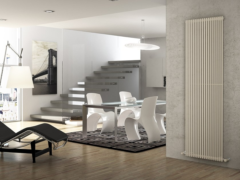 Vertical wall-mounted steel decorative radiator ARPA18 | Vertical decorative radiator by IRSAP