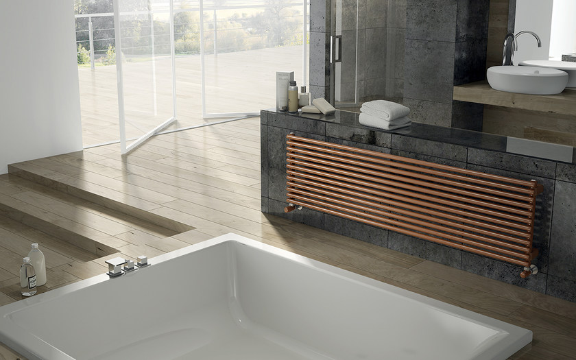 Horizontal wall-mounted steel decorative radiator ARPA23 | Horizontal decorative radiator by IRSAP