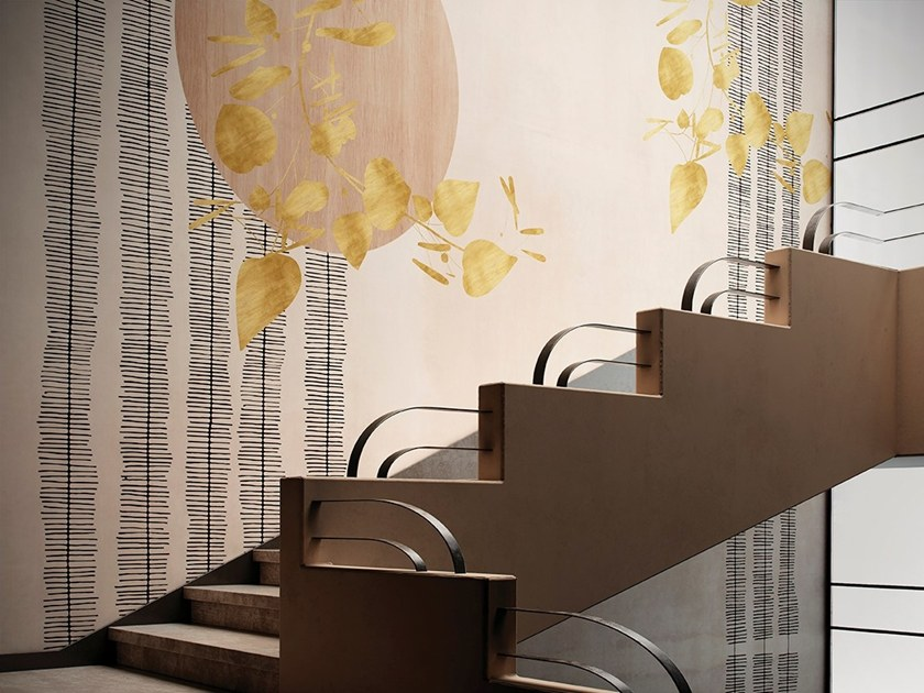 Wallpaper with floral pattern ARPÈGE by GLAMORA