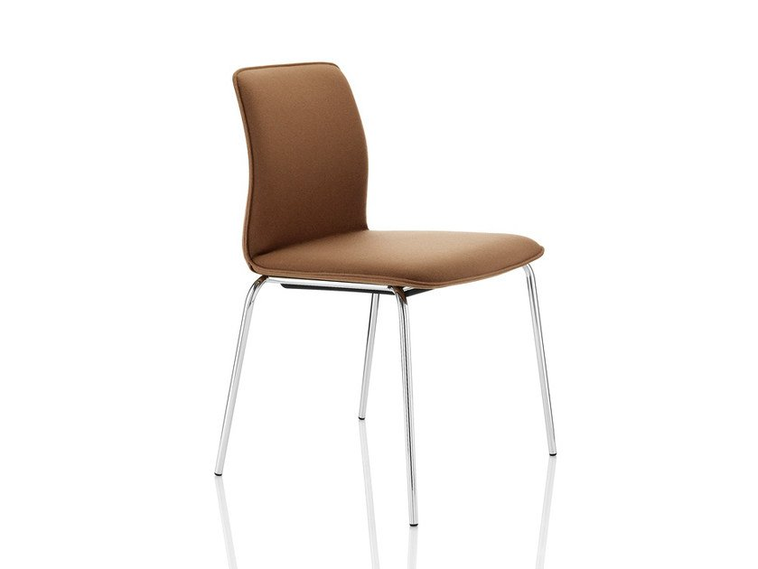 Upholstered stackable fabric chair ARRAN   Chair by Boss Design
