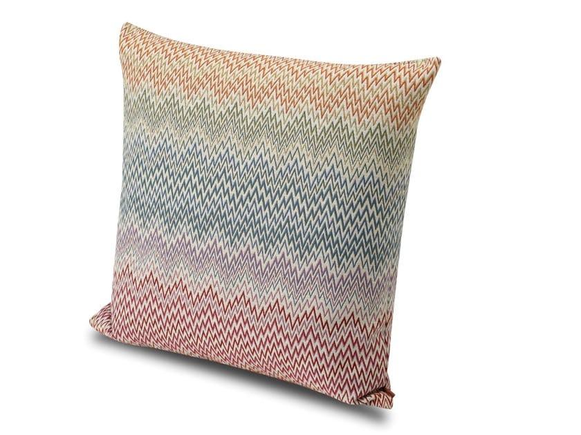 Cuscino in tessuto jacquard flame retardant tinto in filo ARRAS by MissoniHome
