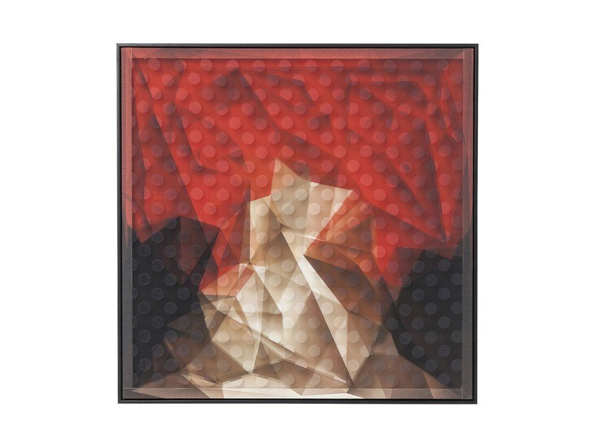 Print on paper ART 3D ABSTRACT RED by KARE-DESIGN