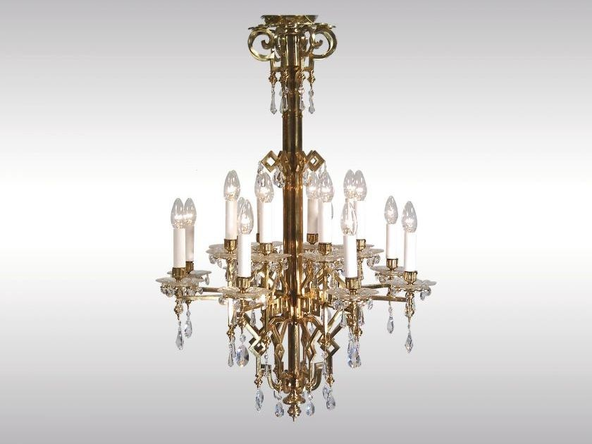 Classic style chandelier ART DECO LUSTER 1922 by Woka Lamps Vienna