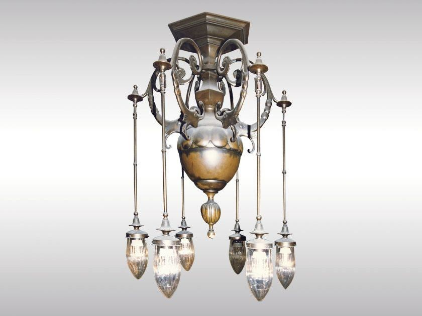 Classic style chandelier ART DECO LUSTER 1914 by Woka Lamps Vienna