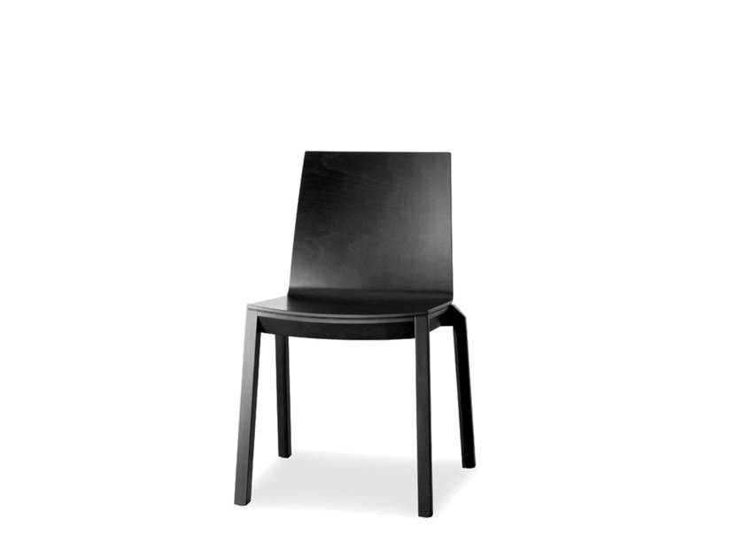 Stackable lacquered plywood chair ARTA   Lacquered chair by Wiesner-Hager