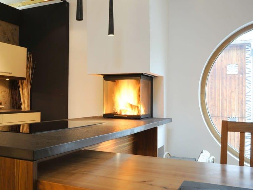 Corner Fireplace Insert Arte U 50h