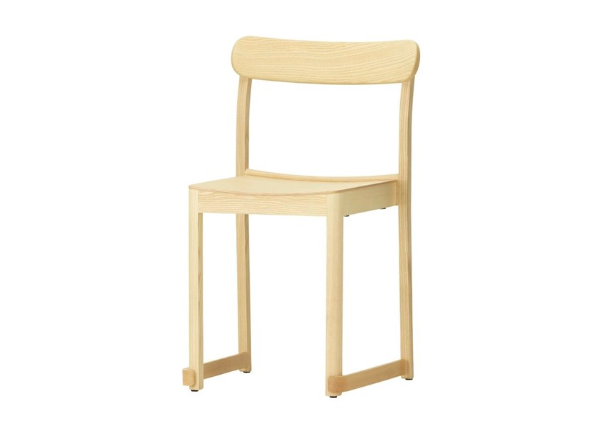 Stackable lacquered ash chair ATELIER | Ash chair by Artek