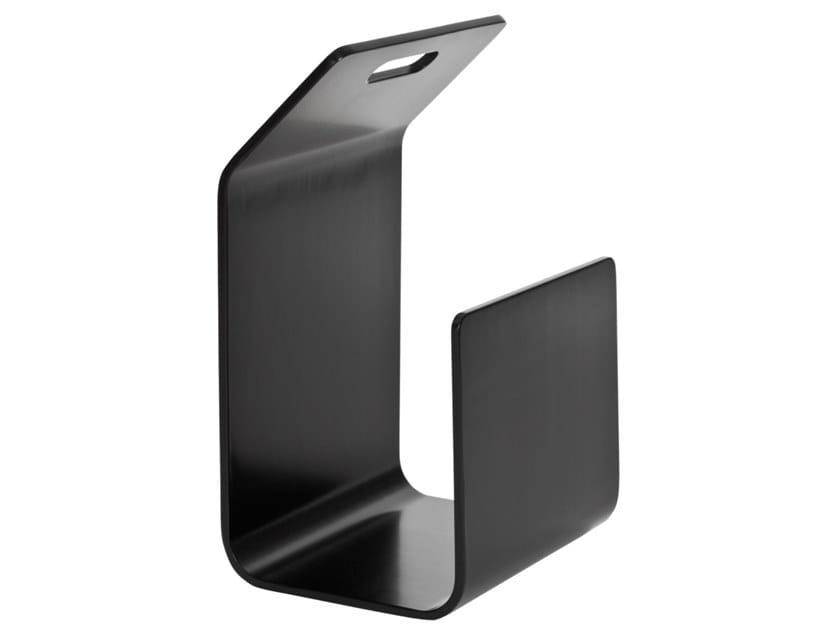 Magazine rack / Log holder ARTEK - KANTO Black by Archiproducts.com