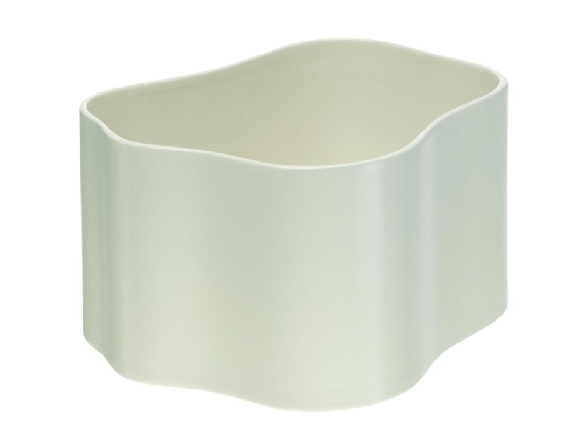 Ceramic plant pot ARTEK - RIIHITIE B Medium white by Archiproducts.com