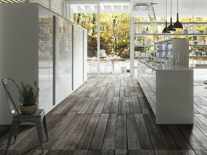 Glass fitted kitchen ARTEMATICA VITRUM - GLOSSY WHITE by VALCUCINE