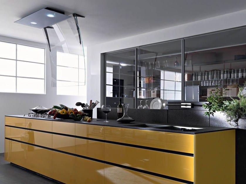 Einbauküche aus Glas ARTEMATICA VITRUM - TERRA YELLOW Linie ...