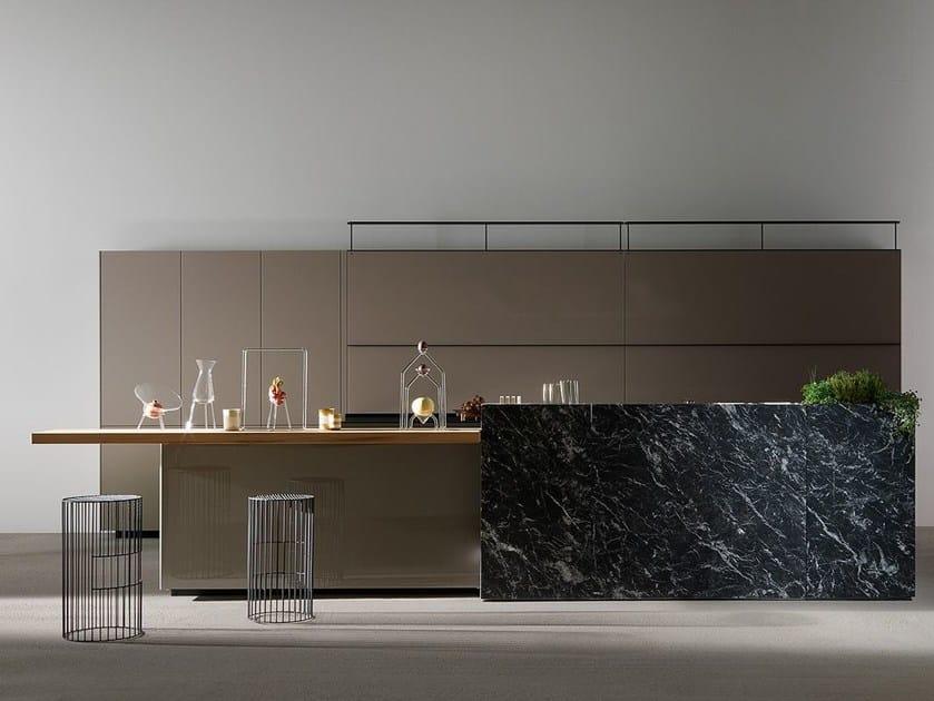 Cucina componibile in vetro ARTEMATICA VITRUM - LUCIDO TERRA Linea ...