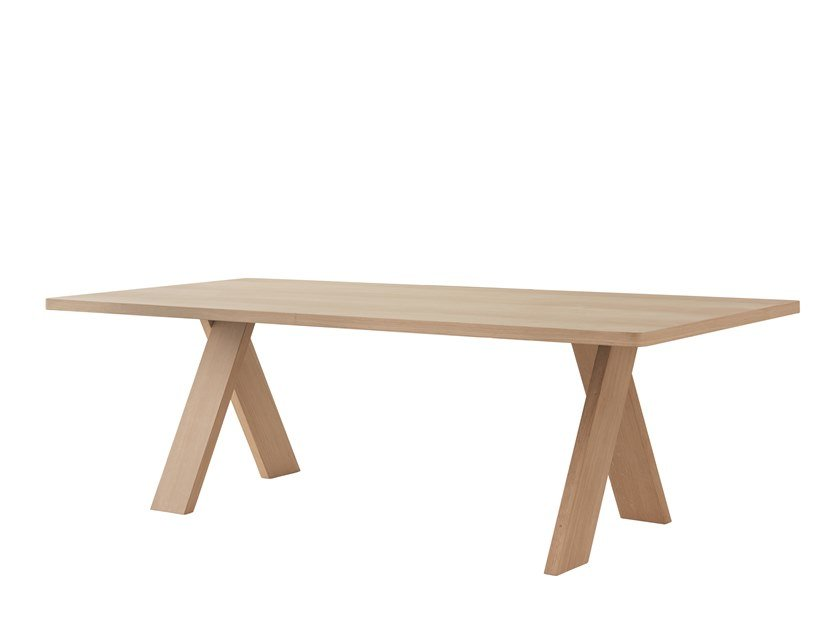 Rectangular wooden dining table ARTFUL by Segis