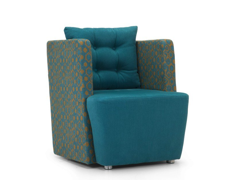 Upholstered fabric armchair with armrests ARTIBELLA | Armchair with armrests by Domingo Salotti