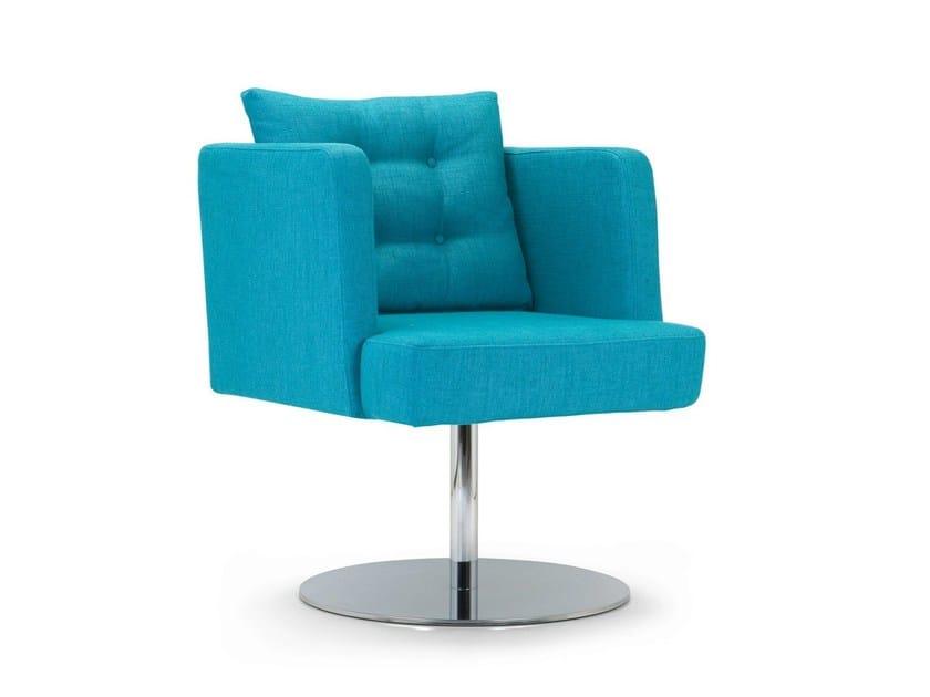 Swivel upholstered easy chair ARTIBELLA | Swivel easy chair by Domingo Salotti