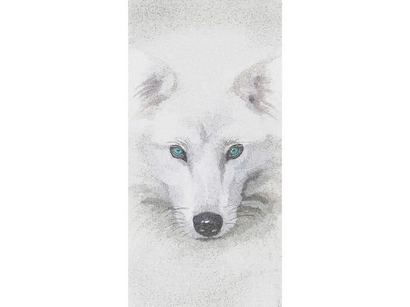 Glass mosaic ARTIC WOLF by Mutaforma
