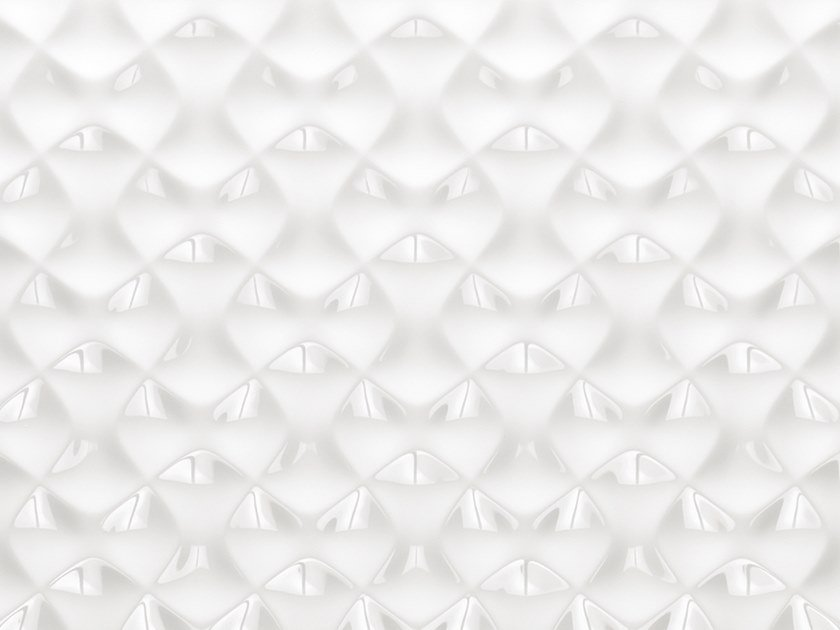 3D Wall Cladding with metal effect ARTIS WHITE by Venis