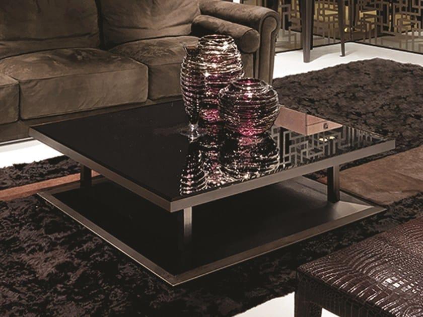 Tavolino quadrato in vetro a specchio ARTÙ | Tavolino by Longhi