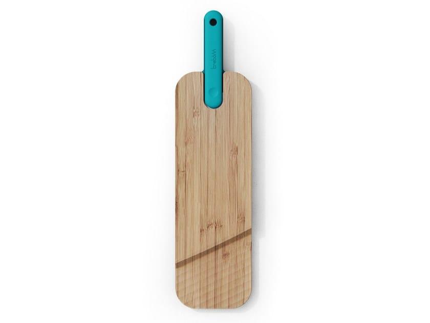 Tagliere in bambù con coltello per salume integrato ARTÙ | Tagliere rettangolare by Trebonn