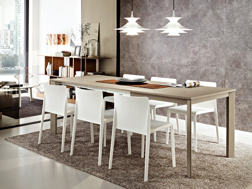 Extending rectangular HPL dining table ARTUR | Extending table by IDEAS Group
