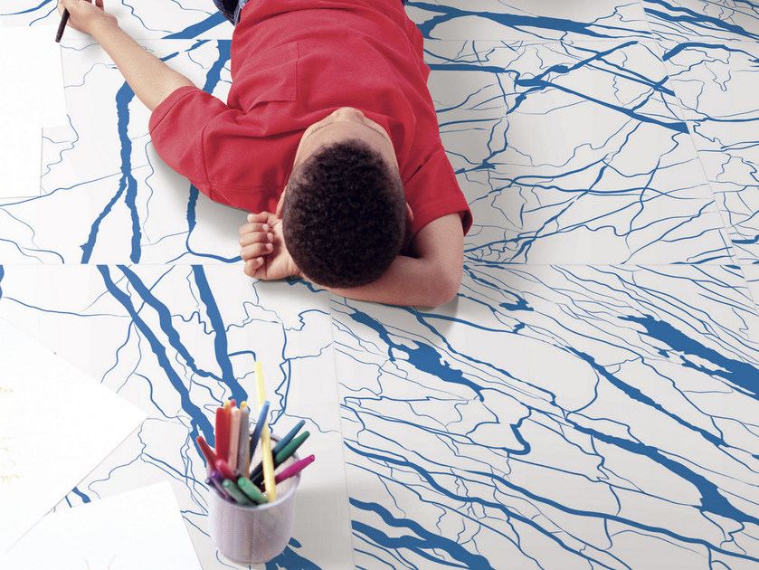 Pavimento in gres porcellanato smaltato effetto marmo ARTWORK | Pavimento effetto marmo by ORNAMENTA