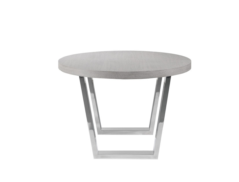 Stainless steel dining table ARTYS | Round table by AZEA