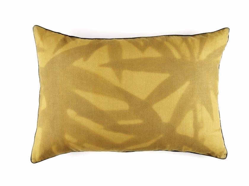 Rectangular linen cushion with floral pattern ARUBA by Élitis