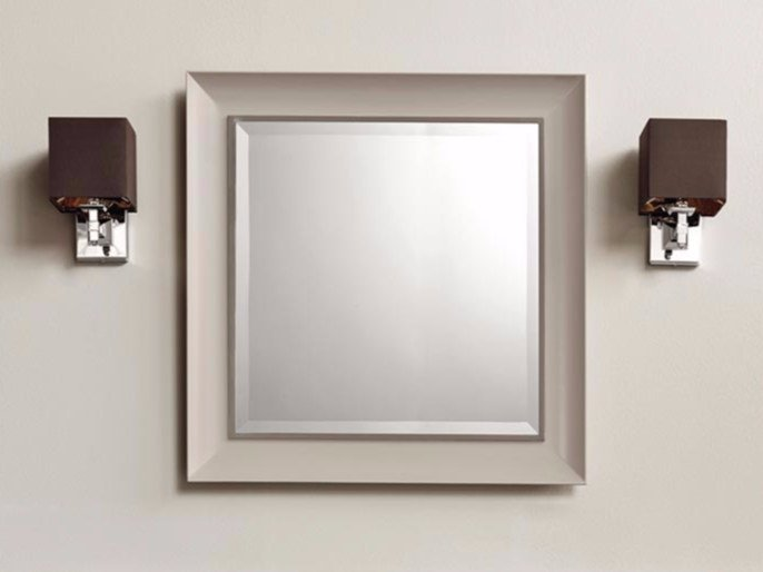 Square wall-mounted framed mirror ARUM by BATH&BATH