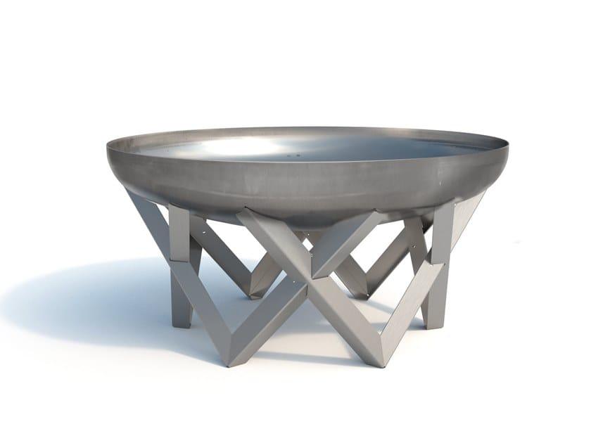 Carbon steel fire baskets AWEN by Arpe studio