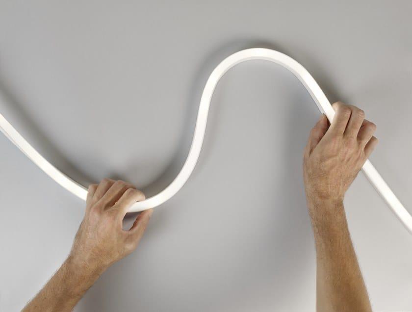 Profilo per illuminazione lineare in poliuretano per moduli LED ASAI SIDE BEND by LEDS C4